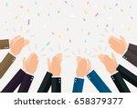 human hands clapping. vector...   Shutterstock .eps vector #658379377