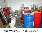 Small photo of hazardous waste of rad tank oil,Rectangular tank (turpentine),Light bulb and environment Impact