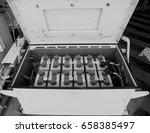 battery box use on offshore... | Shutterstock . vector #658385497