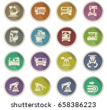 machine tools vector icons for... | Shutterstock .eps vector #658386223
