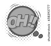oh  comic speech bubble icon in ... | Shutterstock . vector #658393777