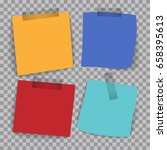 four different colored papers... | Shutterstock .eps vector #658395613