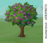 realistic fig tree. cartoon... | Shutterstock .eps vector #658398073