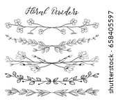 black hand drawn doodle... | Shutterstock .eps vector #658405597