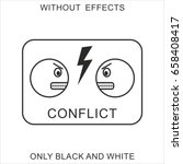 conflicting emoticons | Shutterstock .eps vector #658408417
