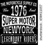 vintage motorcycle t shirt... | Shutterstock .eps vector #658411057