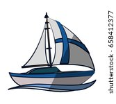 sail boat isolated | Shutterstock .eps vector #658412377