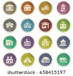 infrastructure vector icons for ... | Shutterstock .eps vector #658415197