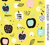 seamless pattern with creative... | Shutterstock .eps vector #658421293