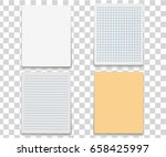 colorfull and white stickers... | Shutterstock .eps vector #658425997