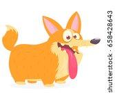 pembroke welsh corgi dog... | Shutterstock .eps vector #658428643