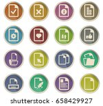 documents vector icons for user ... | Shutterstock .eps vector #658429927