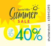 summer sale set v.2  40 percent ... | Shutterstock .eps vector #658441093