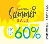 summer sale set v.2  60 percent ...   Shutterstock .eps vector #658441123