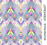 abstract geo zigzag design in... | Shutterstock .eps vector #658443637