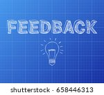 hand drawn feedback sign and... | Shutterstock .eps vector #658446313