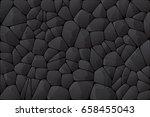 abstract dark wall. black stone ... | Shutterstock .eps vector #658455043