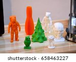 bright colorful objects printed ... | Shutterstock . vector #658463227
