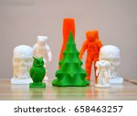 bright objects printed by a 3d... | Shutterstock . vector #658463257