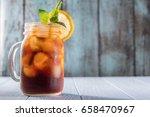 cold brew coffee or black tea... | Shutterstock . vector #658470967