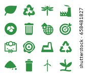 environment icons set. set of... | Shutterstock .eps vector #658481827