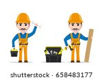 picture of a worker man with... | Shutterstock .eps vector #658483177