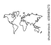 world map   icon . | Shutterstock .eps vector #658485673
