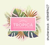 tropical floral arrangement... | Shutterstock .eps vector #658489627