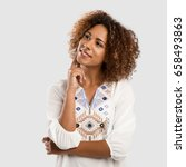 beautiful african american... | Shutterstock . vector #658493863