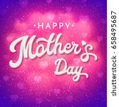 mothers day card or banner with ... | Shutterstock . vector #658495687