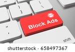 block ads text on keyboard...   Shutterstock . vector #658497367