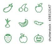 ripe icons set. set of 9 ripe...