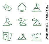 peak icons set. set of 9 peak... | Shutterstock .eps vector #658515457