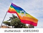 Colorful Rainbow Peace Flag...