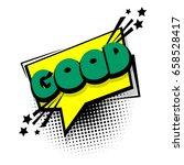 lettering good  ok. comic book... | Shutterstock .eps vector #658528417