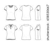 female clothing set. blank... | Shutterstock .eps vector #658530667