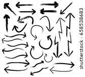 arrow vector set. chalk drawing ... | Shutterstock .eps vector #658538683