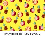 beautiful pattern with hand... | Shutterstock . vector #658539373