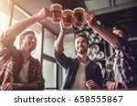 cheers  my friends  three... | Shutterstock . vector #658555867