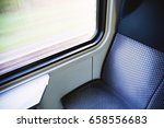 photo of blue seat in modern... | Shutterstock . vector #658556683