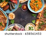 traditional assorted turkish... | Shutterstock . vector #658561453