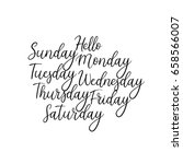 hand lettering days of the week.... | Shutterstock .eps vector #658566007