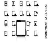 phone mobile set vector