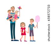 cartoon characters of family.... | Shutterstock .eps vector #658572733