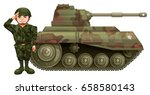 Soldier And Military Tank...