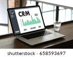 business customer crm... | Shutterstock . vector #658593697