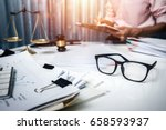 business man discussing very... | Shutterstock . vector #658593937