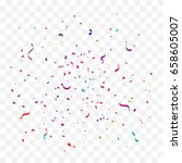 colorful explosion confetti and ... | Shutterstock .eps vector #658605007