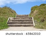 Wooden Steps Leading To A Clea...