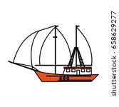 boat tourist illustration | Shutterstock .eps vector #658629277